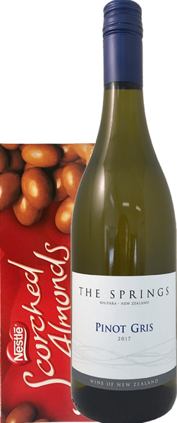 The Springs Pinot Gris 2018 Gift Box with Scorched Almonds