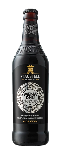 St Austell Mena Dhu Stout 500ml Bottle