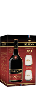 St Remy XO Brandy 700ml & 2 Glass Pack - Wine Central