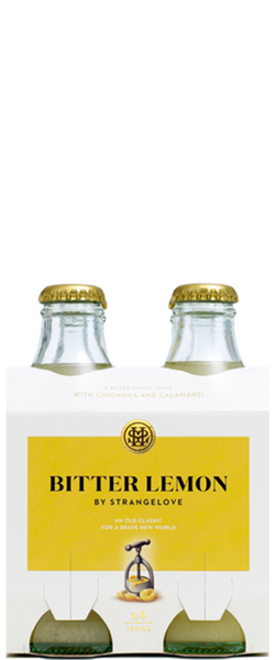 4 Bottles of Strangelove Premium Organic Lemon Tonic (4x 180ml Bottles) BB:13.03.19