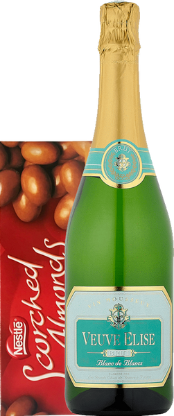 Veuve Elise Brut NV Gift Box with Scorched Almonds