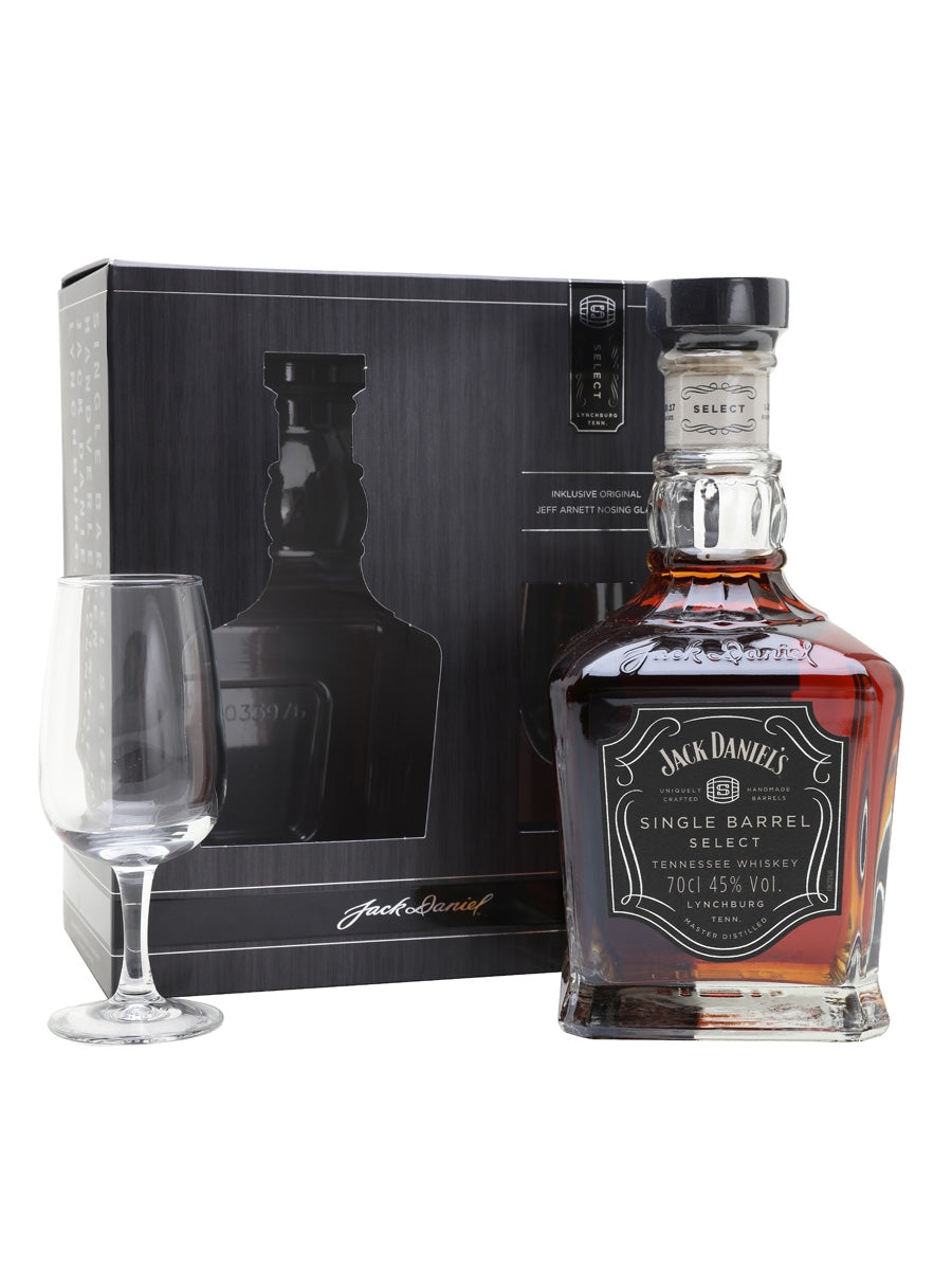 Jack Daniels 700ML Single Barrel Whisky with Glass Gift Set