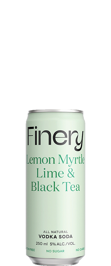 Finery Lemon Myrtle, Lime & Black Tea Vodka (4x 250ml Cans) - Wine Central