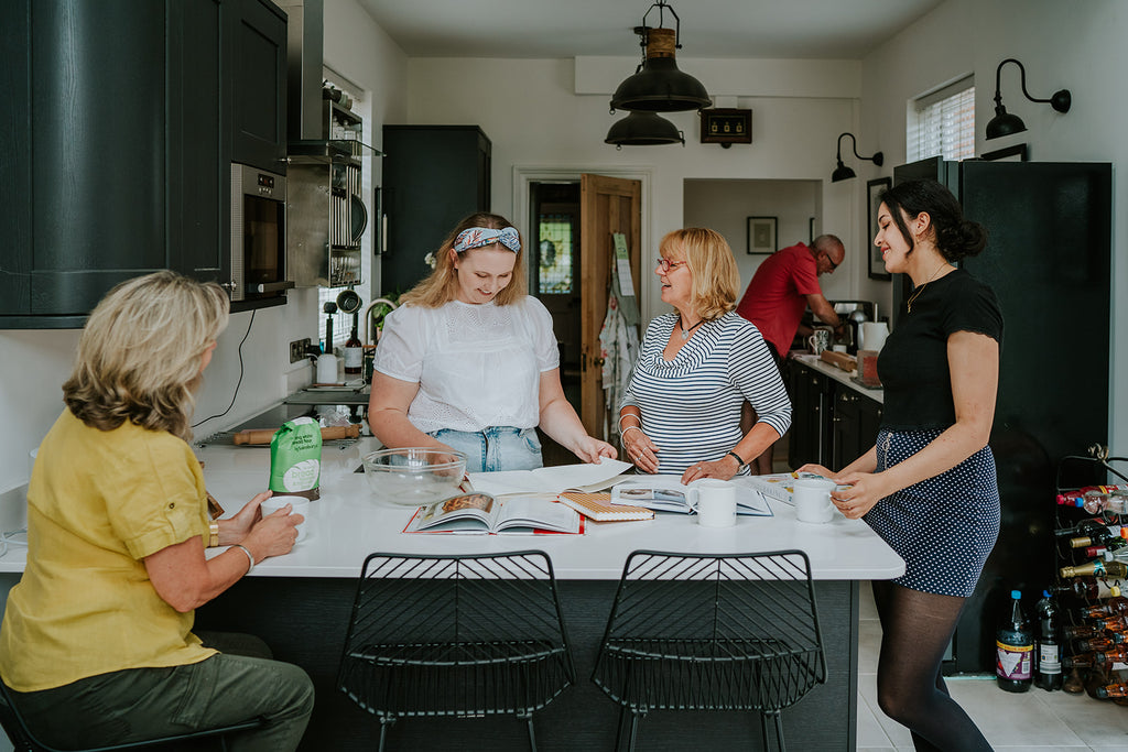 Team meeting in the kitchen