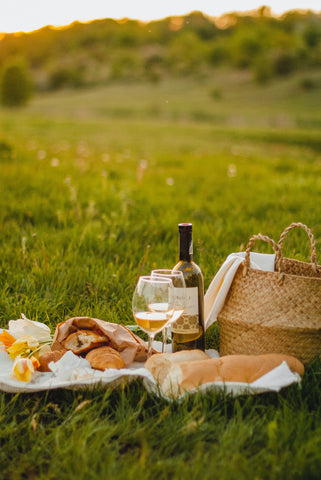 Picnic in a meadow