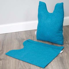 The Shell Pillow teal with cover off