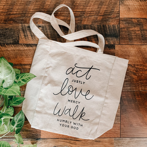 Act Justly Tote