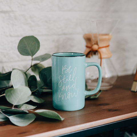 Be Still and Know Tall Campfire Mug