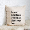Doxology Pillow Cover