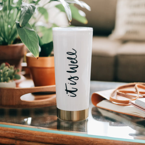 It Is Well Travel Tumbler