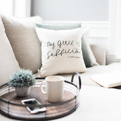 My Grace Is Sufficient Pillow Cover