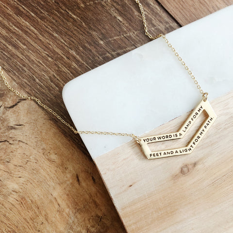 Slightly Imperfect - Lamp and Light Chevron Necklace