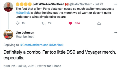 Twitter Support for Voyager Merch
