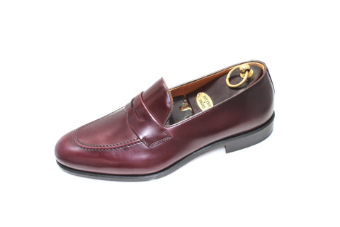 Smythe & Digby Men's Handmade Cordovan Leather Penny Loafers