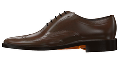 Goodyear Welted Full Brogue Wingtip Leather Dress Shoes