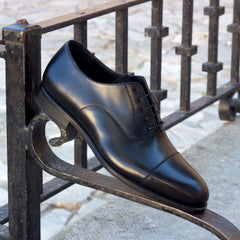 Goodyear Welted Calf Leather Round Toe Oxford