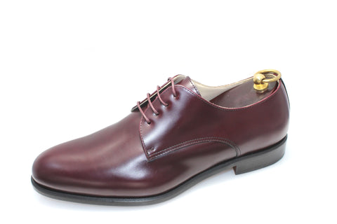 Smythe & Digby Men's Handmade Plain Toe Cordovan Derby Blucher Calf Leather
