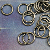 8mm Jump Rings Antiqued Silver Ox Over Brass 16 gauge