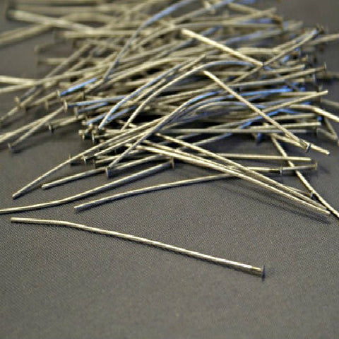 Antiqued Silver 22 gauge Solid Brass Head pins 2 inch 100pc