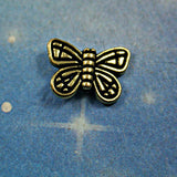 Butterfly Bead antique gold Pewter lovely detail 14mmx10mm 8pc