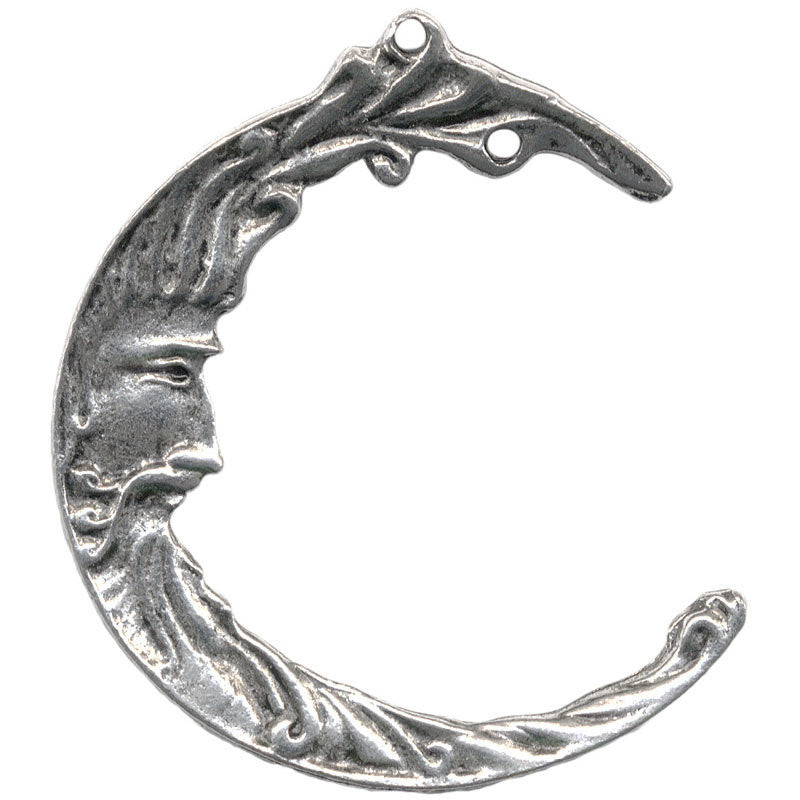 Moon Face Hanger Pendant Charm Genuine pewter wholesale