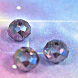 Tanzanite Crystal Rondelle10mm Puffy Donut multi faceted