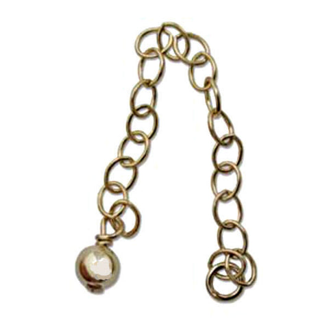 Gold-filled 2 inch Chain Extender with 4mm end bead