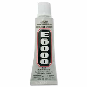 E-6000 industrial strength Clear glue 1 oz tube
