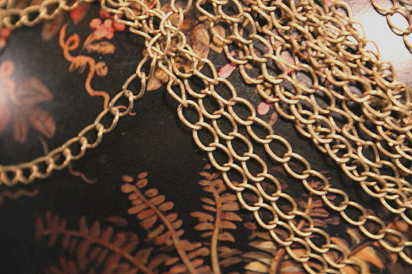 Chain Antique Bronze color plated over BRASS Chain Delicate Twist Oval Link Chain - by the foot wholesale