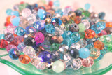 Crystal Rondelle Mix 8x6mm Multi Gemcut Faceted Quality Donut 500pc Wholesale asst colors grade A