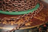 Antique Copper Ox plated Iron Chain by the foot