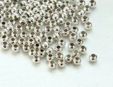 Sterling Silver 4mm smooth seamless round beads 1.5mm hole Premium Solid Sterling Silver