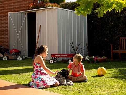 A Backyard Play Shed for the Kids