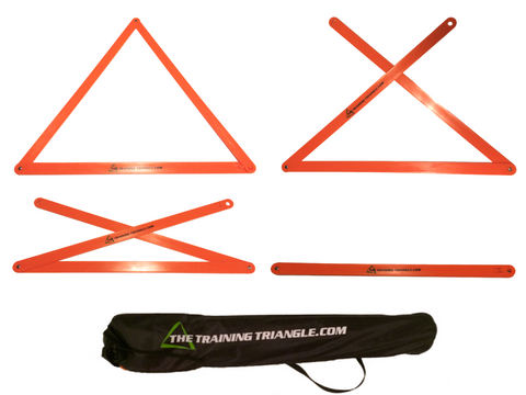 The Training Triangle® Team Set of 9 + Carrying Bag + Triangle Training Method eBook