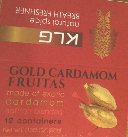 Gold Cardamom 12 Tins (Box) 8gm