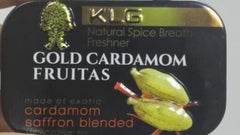 1 Metal Tin of Gold Cardamom Fruitas ( 8gm )