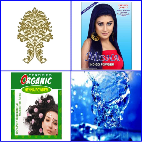 ONE Pure Indigo + ONE Certified Organic Henna Hair Color. 100g Ea.