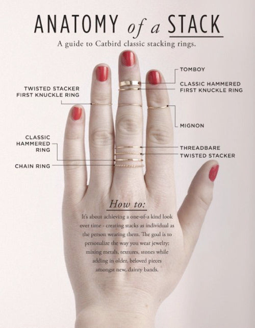 Ring Stack Anatomy infographic