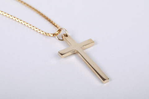 Plain Cross - Gold
