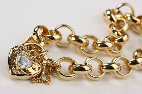 Chunky Belcher Bracelet with Locket Gold