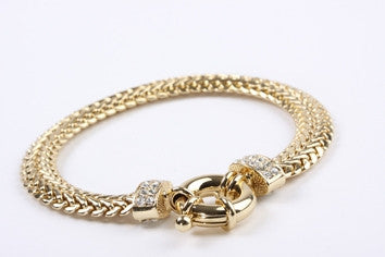 Crystal Braid Bracelet Gold