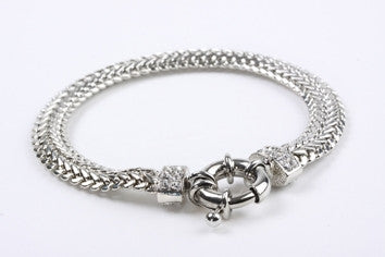 Crystal Braid Bracelet Silver