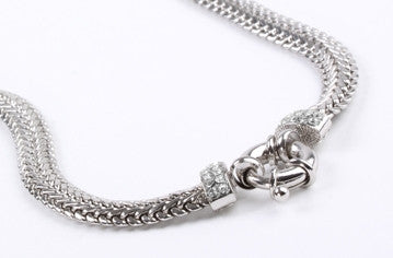 Crystal Braid Chain Silver