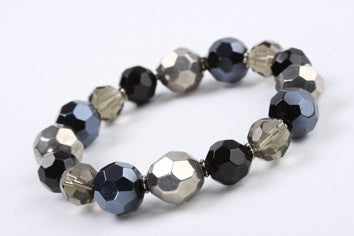 Midnight Beads Stretch Bracelet