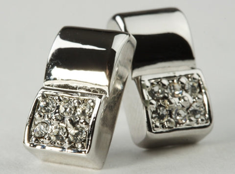 Chic Square Earrings Silver