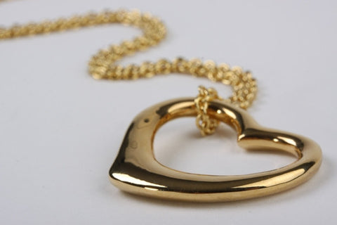 Open Heart Pendant Gold