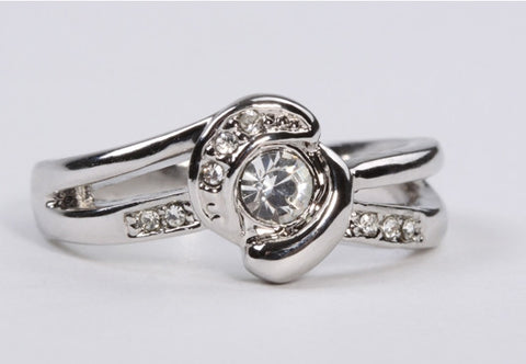 CZ Nest Ring Silver
