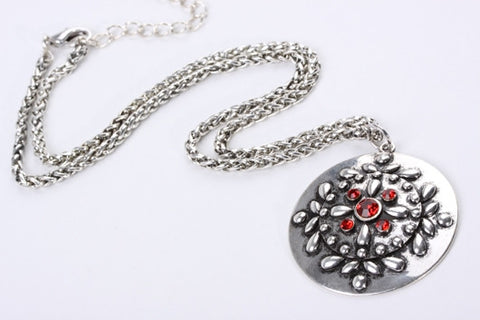 Red Embossed Pendant