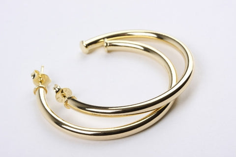 Fine Hoop Earrings Gold