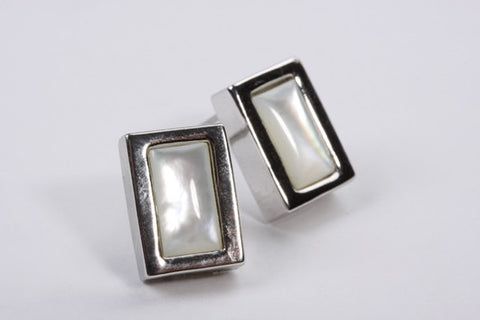 Mother of Pearl Earrings Silver